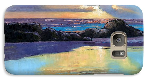 Galaxy Case featuring the painting Havik Beach Sunset by Janet King