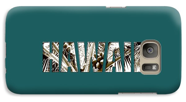 Galaxy Case featuring the photograph Hawaii Coconut Palm Type by Kerri Ligatich