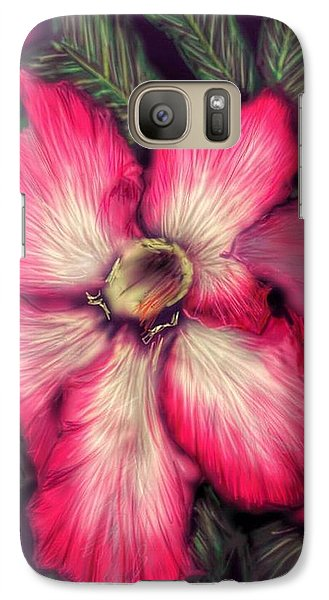 Galaxy Case featuring the digital art Hawaii Flower by Darren Cannell