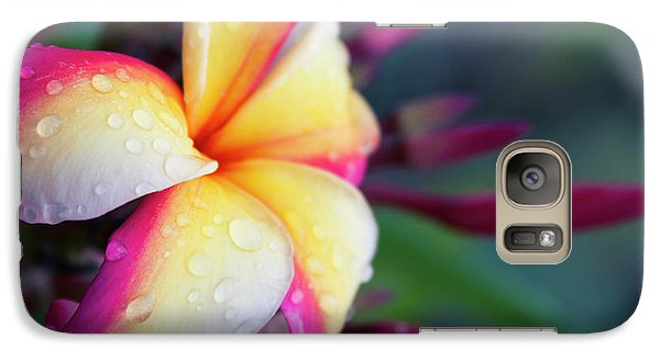 Galaxy Case featuring the photograph Hawaii Plumeria Flower Jewels by Sharon Mau