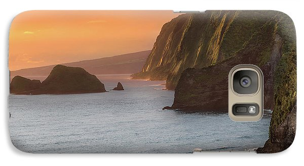 Hawaii Sunrise At The Pololu Valley Lookout 2 Galaxy S7 Case by Larry Marshall