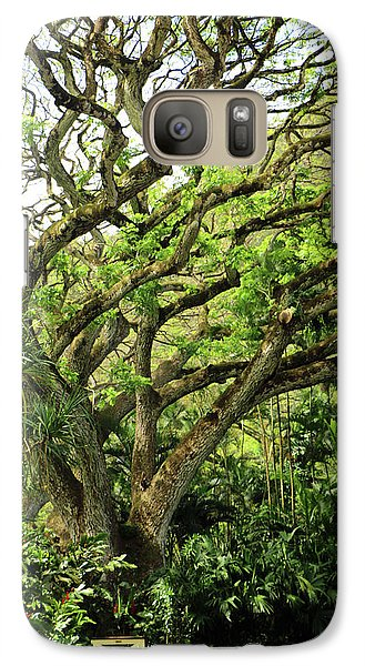 Galaxy Case featuring the photograph Hawaii Tree-bard by Denise Moore
