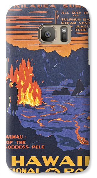 Hawaii Vintage Travel Poster Galaxy S7 Case by Georgia Fowler
