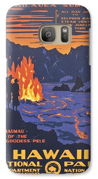 Hawaii Vintage Travel Poster Galaxy S7 Case