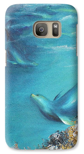 Galaxy Case featuring the painting Hawaiian Monk Seals by Dina Dargo