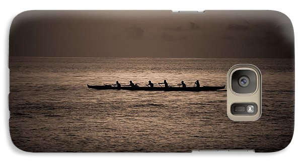 Galaxy Case featuring the photograph Hawaiian Outrigger by Kelly Wade