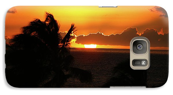Galaxy Case featuring the photograph Hawaiian Sunset by Anthony Jones