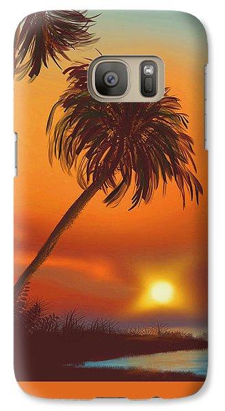 Hawaiian Sunset Galaxy S7 Case