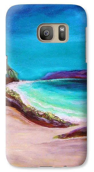 Galaxy Case featuring the painting Hawaiin Blue by Patricia Piffath
