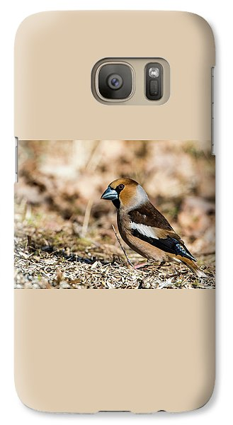 Galaxy Case featuring the photograph Hawfinch's Gaze by Torbjorn Swenelius