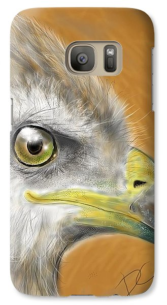 Galaxy Case featuring the digital art Hawk by Darren Cannell