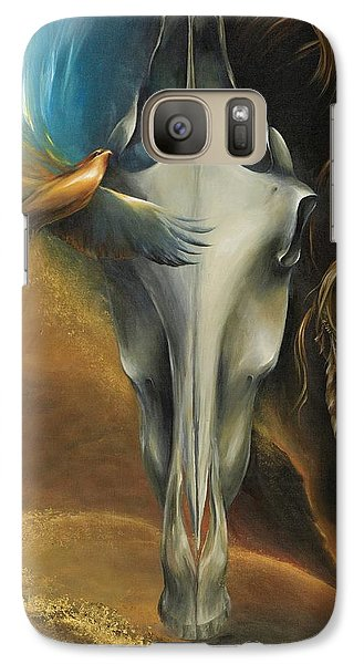 Galaxy Case featuring the painting Hawk Medicine by Dina Dargo