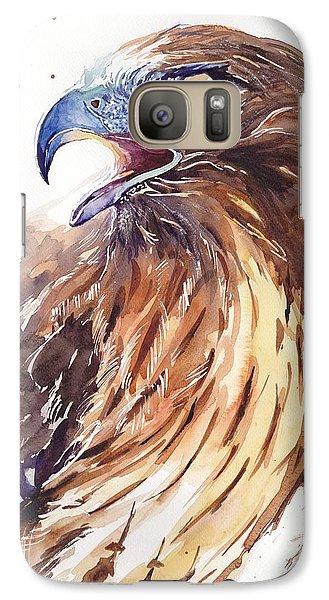 Sparrow Galaxy S7 Case - Hawk Watercolor by Suzann's Art