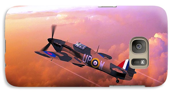 Galaxy Case featuring the digital art Hawker Hurricane British Fighter by John Wills