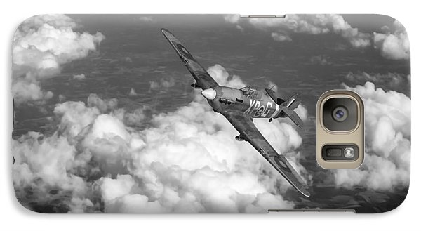 Galaxy Case featuring the photograph Hawker Hurricane IIb Of 174 Squadron Bw Version by Gary Eason