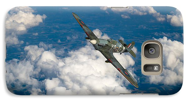 Galaxy Case featuring the photograph Hawker Hurricane IIb Of 174 Squadron by Gary Eason