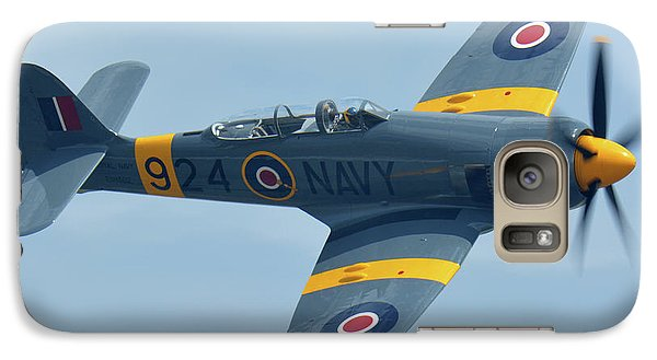 Galaxy Case featuring the photograph Hawker Sea Fury T20 N924g Chino California April 30 2016 by Brian Lockett