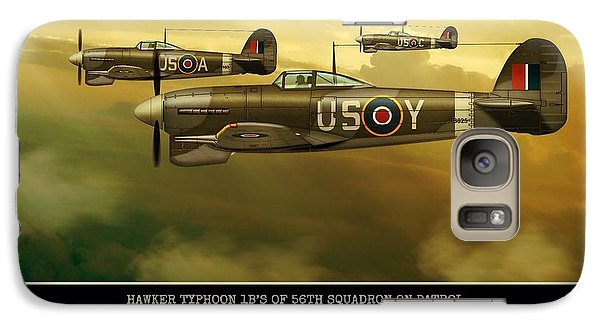 Galaxy Case featuring the digital art Hawker Typhoon Sqn 56 by John Wills