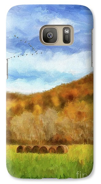 Galaxy Case featuring the photograph Hay Bales by Lois Bryan