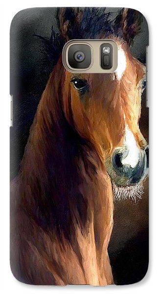 Galaxy Case featuring the painting Hay Dude by James Shepherd