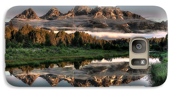 Mountain Galaxy S7 Case - Hazy Reflections At Scwabacher Landing by Ryan Smith