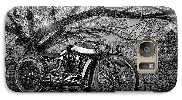 Galaxy Case featuring the photograph Hd Cafe Racer  by Louis Ferreira