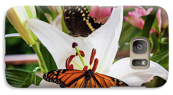 Galaxy Case featuring the photograph He Still Gives Me Butterflies by Karen Wiles