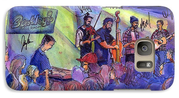 Galaxy Case featuring the painting Head For The Hills At Barkley Ballroom by David Sockrider
