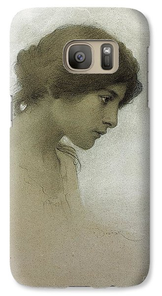 Portraits Galaxy S7 Case - Head Of A Girl  by Franz Dvorak