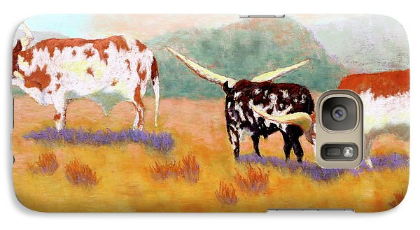 Galaxy Case featuring the painting Headed For The Barn by Nancy Jolley