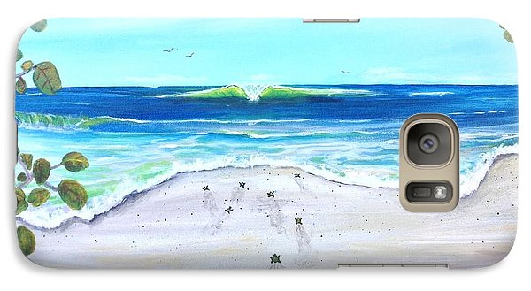 Galaxy Case featuring the painting Headed Home by Dawn Harrell