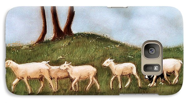Galaxy Case featuring the pastel Headed Home by Jan Amiss