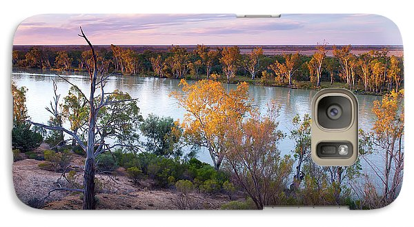 Galaxy Case featuring the photograph Heading Cliffs Murray River South Australia by Bill Robinson