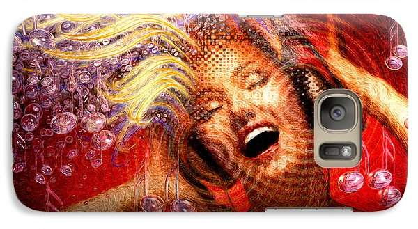 Galaxy Case featuring the painting Headphones by Robby Donaghey