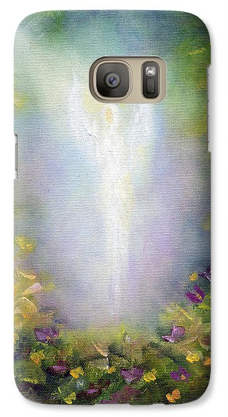 Galaxy Case featuring the painting Healing Angel by Marina Petro