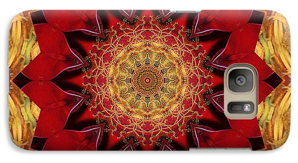 Galaxy Case featuring the photograph Healing Mandala 28 by Bell And Todd