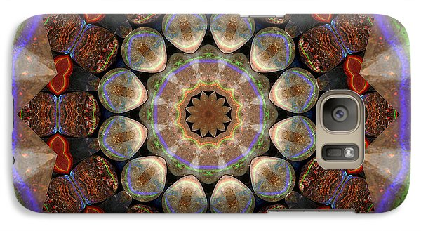 Galaxy Case featuring the photograph Healing Mandala 30 by Bell And Todd