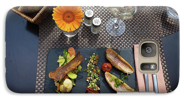 Galaxy Case featuring the photograph Health Fish Dish Served At A French Restaurant by Semmick Photo