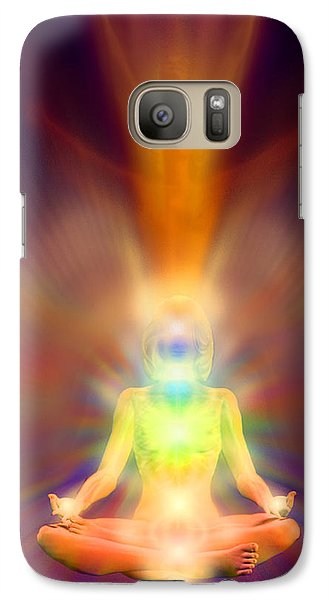 Galaxy Case featuring the painting Healthy Aura by Robby Donaghey