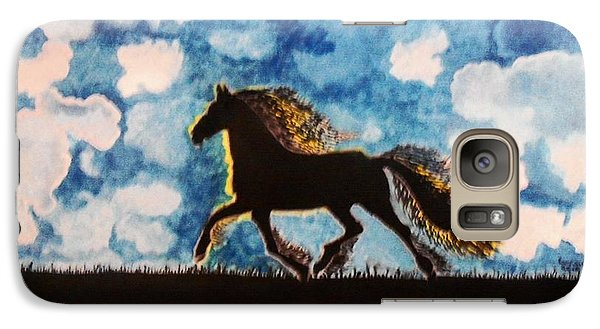 Galaxy Case featuring the painting Hearing Thunder by Connie Valasco