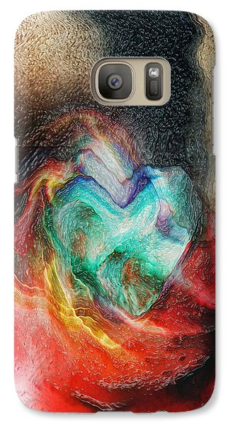 Galaxy Case featuring the digital art Heart Deep by Linda Sannuti