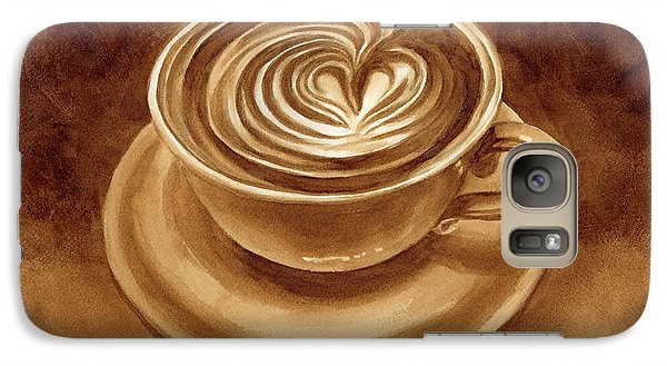 Galaxy Case featuring the painting Heart Latte by Hailey E Herrera