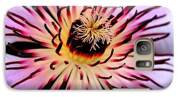 Galaxy Case featuring the photograph Heart Of A Clematis by Baggieoldboy