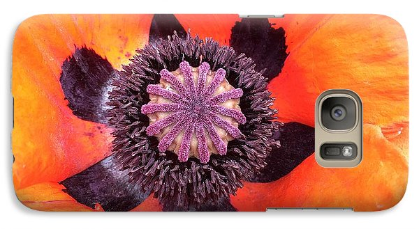 Galaxy S7 Case - Heart Of A Poppy by Orphelia Aristal