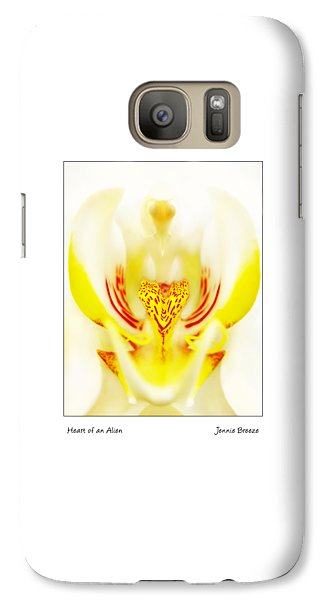 Galaxy Case featuring the photograph Heart Of An Alien by Jennie Breeze