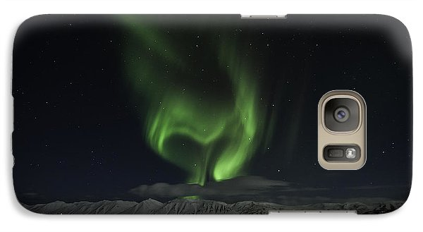 Galaxy Case featuring the photograph Heart Of Northern Lights by Frodi Brinks