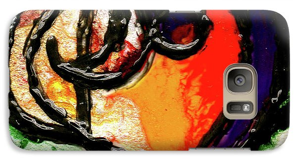 Galaxy Case featuring the painting Heart Robin Treble by Genevieve Esson