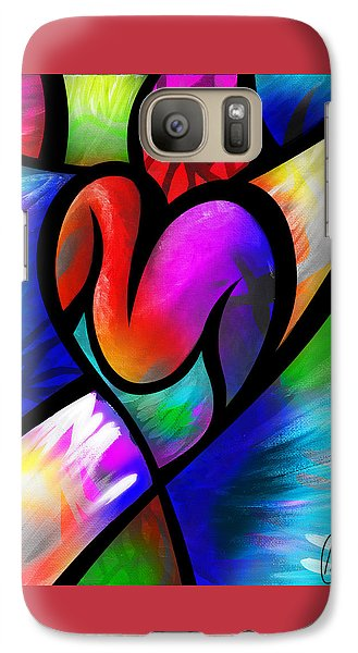 Galaxy Case featuring the digital art Heart Vectors by AC Williams