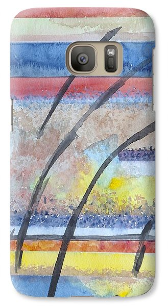 Galaxy Case featuring the painting Heartbeat by Jacqueline Athmann