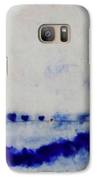Galaxy Case featuring the painting Hearts On A Wire by Kim Nelson